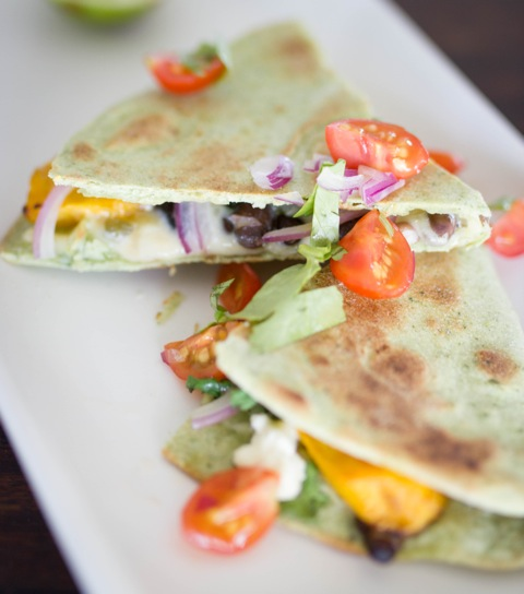 Pumpkin, Blackbean and Coriander Quesadilla