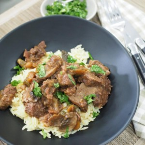Beef Red WIne Casserole plated