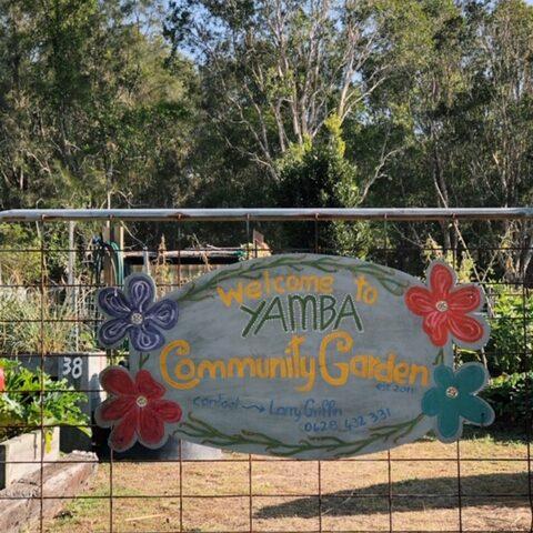 Yamba's Community Garden entrance