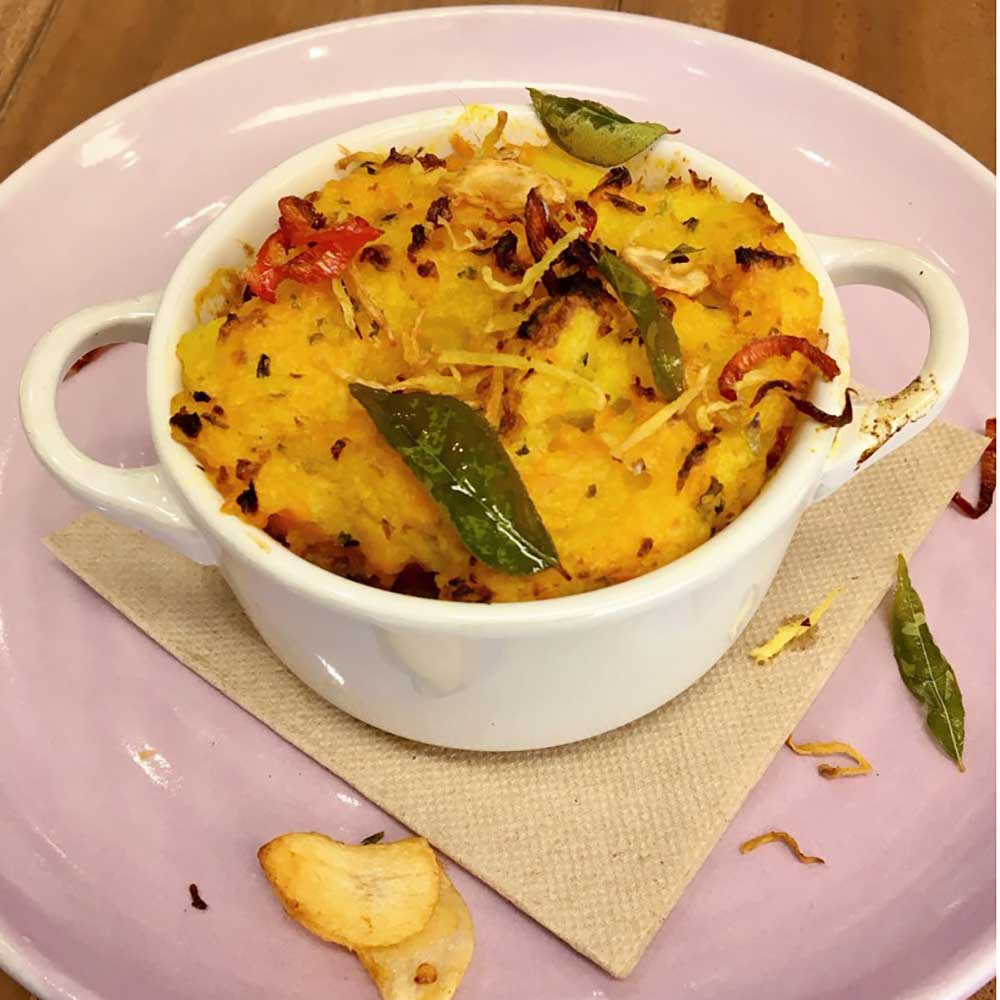 Indian spiced shepherds pie, recipe, Kitchen to Table, Yamba
