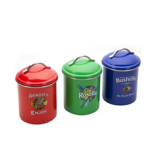 Australian Icons Canister Set brights, Kitchen to Table, Yamba