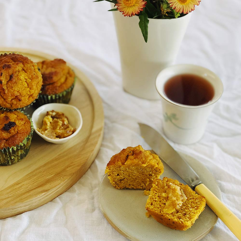 Spiced Pumpkin Muffins, Kitchen to Table, Yamba