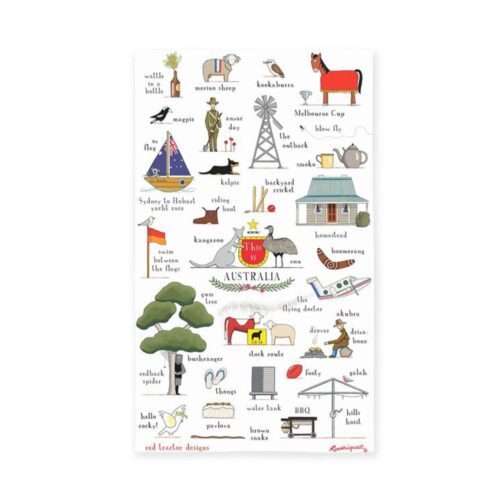 Red Tractor Tea Towel This is Australia