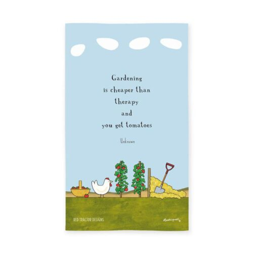 Red Tractor Tea Towel Garden Therapy