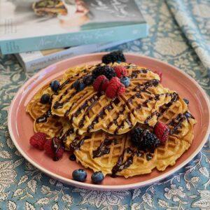 classic-buttermilk-waffles-womensweekly-kitchen-to-table-yamba-autumn-blackberries-raspberries