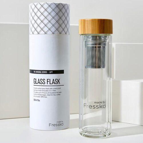 Fressko Glass Flask 500ml, KitchentoTable, Yamba