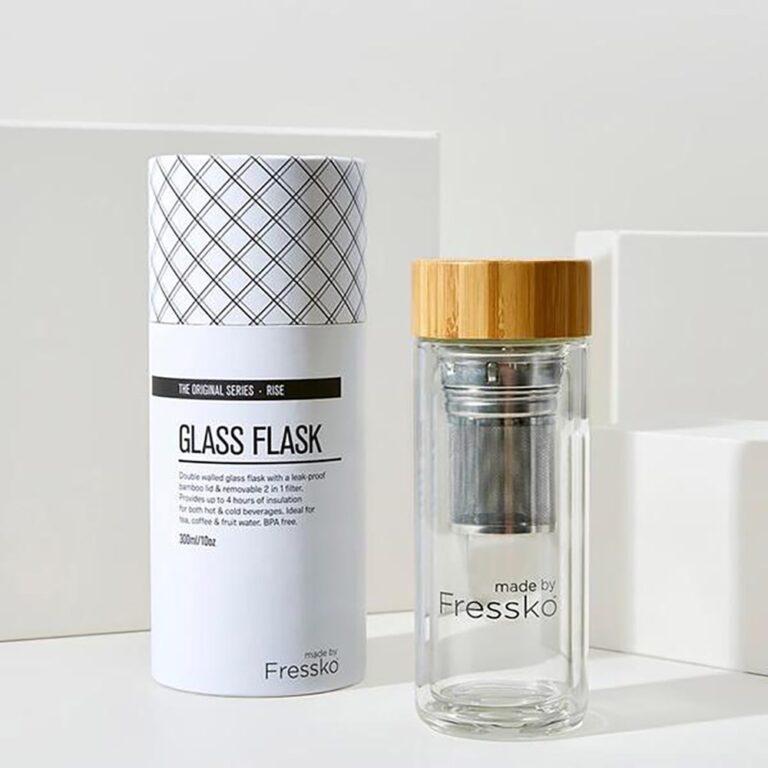 Fressko Glass Flask 300ml, KitchentoTable, Yamba