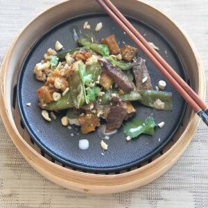 Beef, pumpkin and kaffir lime stir fry, Kitchen to Table, Yamba