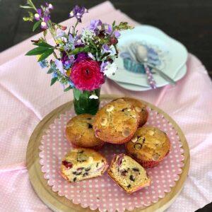 Berry and chocolate muffins, recipe, Kitchen to Table, Yamba